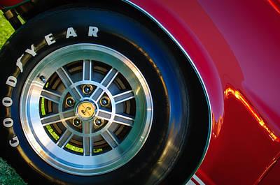 1968 Shelby Gt500 Kr Fastback Wheel Emblem -1112c Art Print