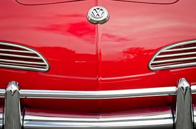 Photograph - 1968 Volkswagen Karmann Ghia Convertible Hood Emblem by Jill Reger