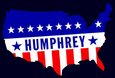 1968 Vote Humphrey For President Print by Historic Image