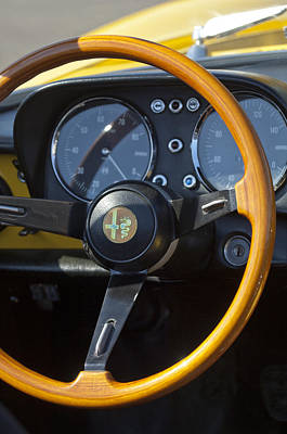 1969 Alfa Romeo 1750 Spider Steering Wheel Art Print