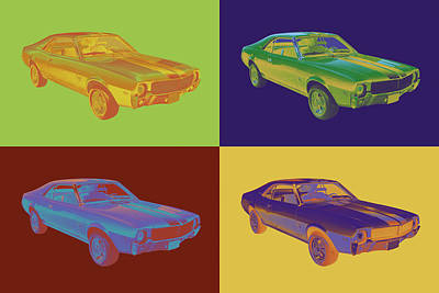 Photograph - 1969 Amc Javlin Car Pop Art by Keith Webber Jr