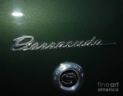 Photograph - 1969 Barracuda Formula S Logo by John Telfer