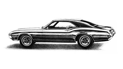 Buick Drawing - 1969 Buick Riviera by Nick Toth