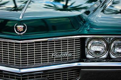 Photograph - 1969 Cadillac Eldorado Grille Emblem -0270c by Jill Reger