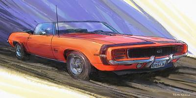 1969 Camaro Ss L34 Art Print by RG McMahon