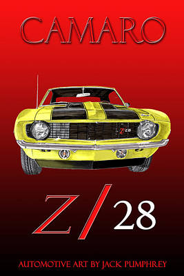 1969 Camaro Z 28  Art Print by Jack Pumphrey