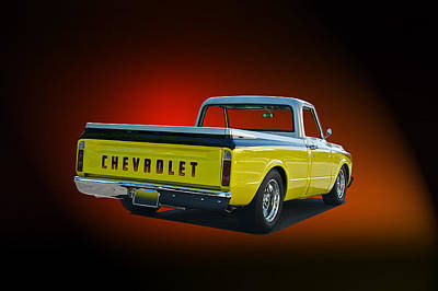 Chevy C10 Photograph - 1969 Chevrolet C10 Pick Up by Dave Koontz