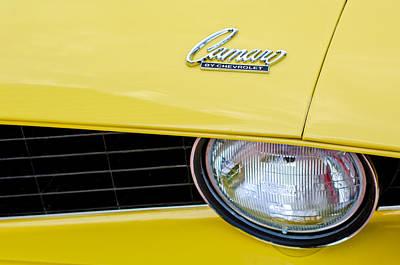 1969 Photograph - 1969 Chevrolet Camaro Emblem -0236c by Jill Reger