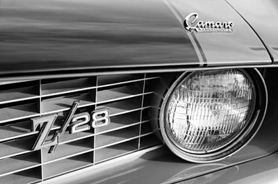1969 Photograph - 1969 Chevrolet Camaro Z-28 Grille Emblems by Jill Reger