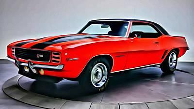 Car Painting - 1969 Chevrolet Camaro Z28 by Florian Rodarte