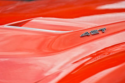 1969 Photograph - 1969 Chevrolet Corvette Roadster 427 Hood Emblem by Jill Reger