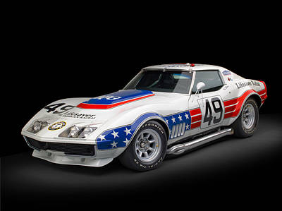 Old Hotrod Photograph - 1969 Chevrolet Stars And Stripes L88 Zl-1 Corvette by Gianfranco Weiss