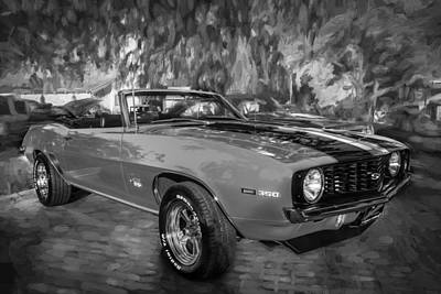 Photograph - 1969 Chevy Camaro Ss 350 Painted Bw  by Rich Franco