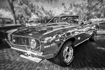 Red Camaro Photograph - 1969 Chevy Camaro Ss Painted Bw  by Rich Franco