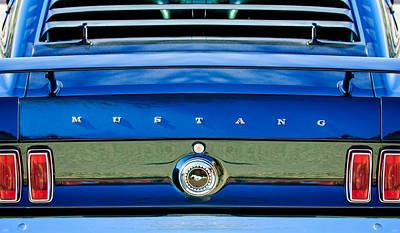 1969 Photograph - 1969 Ford Mustang 302 Rear Emblem by Jill Reger