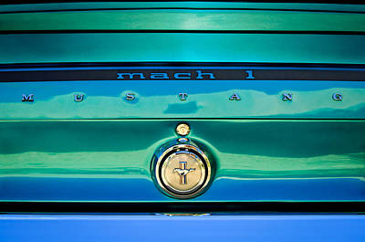 Photograph - 1969 Ford Mustang Mach 1 Rear Emblem by Jill Reger