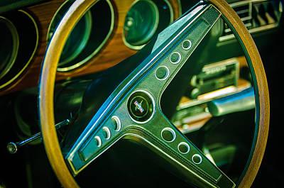 1969 Photograph - 1969 Ford Mustang Mach 1 Steering Wheel Emblem by Jill Reger