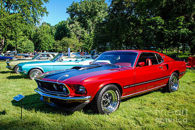 Photograph - 1969 Ford Mustang Mach I by Grace Grogan