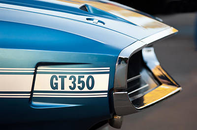 1969 Photograph - 1969 Ford Shelby Gt 350 Convertible Emblem by Jill Reger