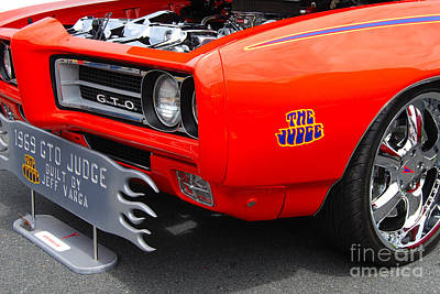 Photograph - 1969 Gto Judge by Mark Spearman