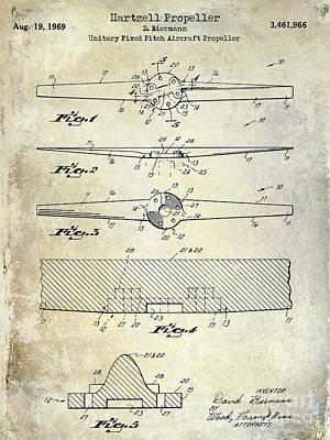 1969 Hartzell Propeller Patent Art Print by Jon Neidert