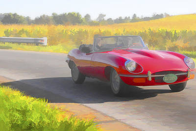 Photograph - 1969 Jaguar Xke Convertible by Jack R Perry