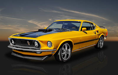 Photograph - 1969 Mach 1 Ford Mustang by Frank J Benz