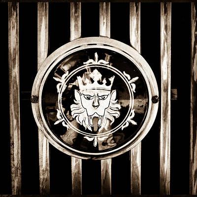 Photograph - 1969 Morgan Roadster Grille Emblem by Jill Reger
