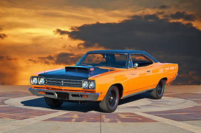 1969 Plymouth 440 6bl Roadrunner Art Print by Dave Koontz