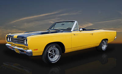 Photograph - 1969 Plymouth Road Runner Convertible by Frank J Benz