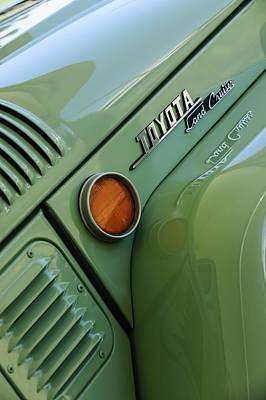 1969 Photograph - 1969 Toyota Fj-40 Land Cruiser Side Emblem -0423c by Jill Reger