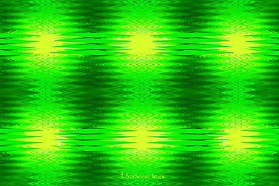 Digital Art - 197 - Deco Green 2 by Irmgard Schoendorf Welch