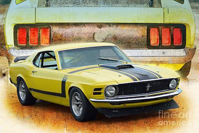 Photograph - 1970 Boss 302 Mustang by Stuart Row