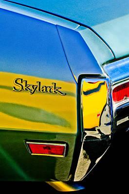 Photograph - 1970 Buick Skylark Taillight Emblem by Jill Reger