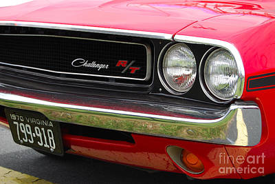 Photograph - 1970 Challenger Grill by Mark Spearman