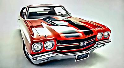 Rod Painting - 1970 Chevrolet Chevelle Ss 454 by Florian Rodarte