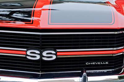 1970 Chevrolet Chevelle Ss Grille Emblem Art Print by Jill Reger