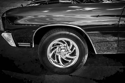 1970 Chevy Chevelle 454 Ss Bw   Art Print by Rich Franco