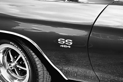 Photograph - 1970 Chevy Chevelle 454 Ss Bw  by Rich Franco