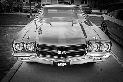 1970 Chevy Chevelle 454 Ss Painted Bw   Art Print by Rich Franco
