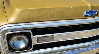 Photograph - Classic 1970 Chevy Hood Emblem by Bob Sample