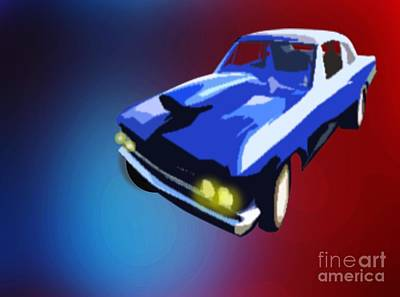 Painting - 1970 Dodge Auto by Belinda Threeths