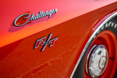 Photograph - 1970 Dodge Challenger Emblem by Ron Pate