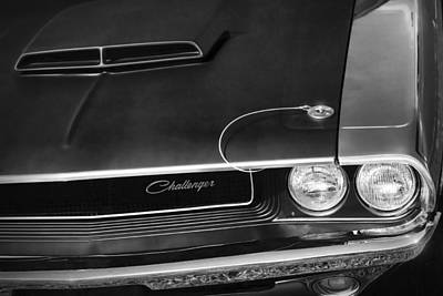 Photograph - 1970 Dodge Challenger T/a In Black And White by Gordon Dean II