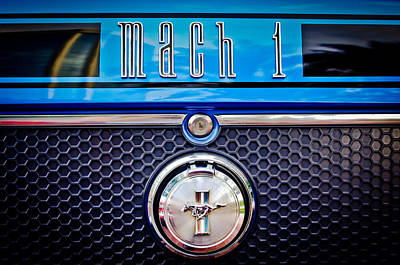 Photograph - 1970 Ford Mustang Gt Mach 1 Emblem by Jill Reger
