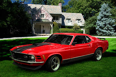 Photograph - 1970 Ford Mustang Mach 1 by Tim McCullough