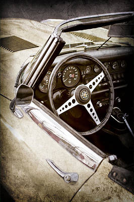 1970 Jaguar Xe Type-e Steering Wheel -1061ac Art Print by Jill Reger