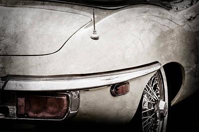 1970 Jaguar Xk Type-e Taillight-1278ac Art Print by Jill Reger