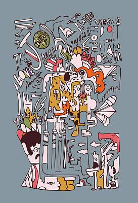 1970 John Rolling Stones Interview  Art Print by Jos De La Paz