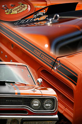 Stock Muscle Photograph - 1970 Plymouth Road Runner  by Gordon Dean II